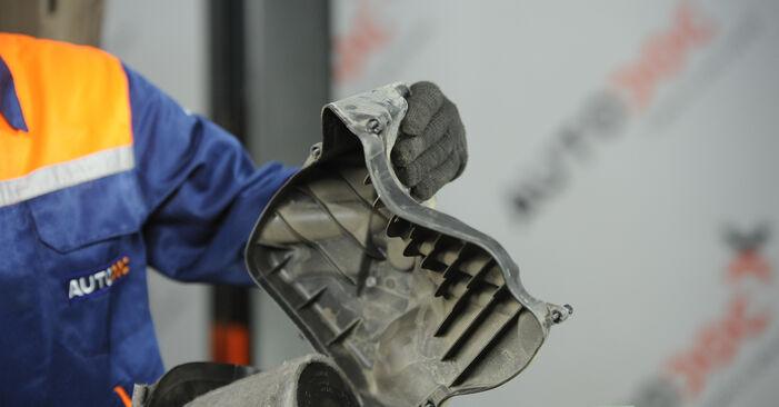 BMW 3 SERIES 318d 2.0 Luftfilter ausbauen: Anweisungen und Video-Tutorials online