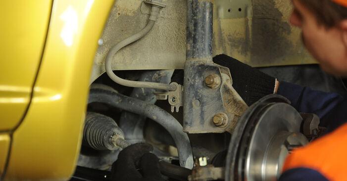 Veerpootlager zelf wisselen Toyota Yaris p1 2002 1.0 (SCP10_)