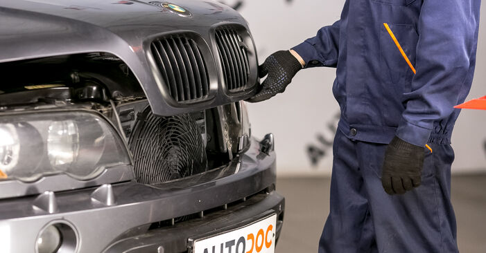 Byt BMW X5 4.6 is Oljefilter: guider och videoinstruktioner online