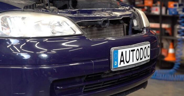 Schritt-für-Schritt-Anleitung zum selbstständigen Wechsel von Opel Astra g f48 1999 1.7 DTI 16V (F08, F48) Motorlager