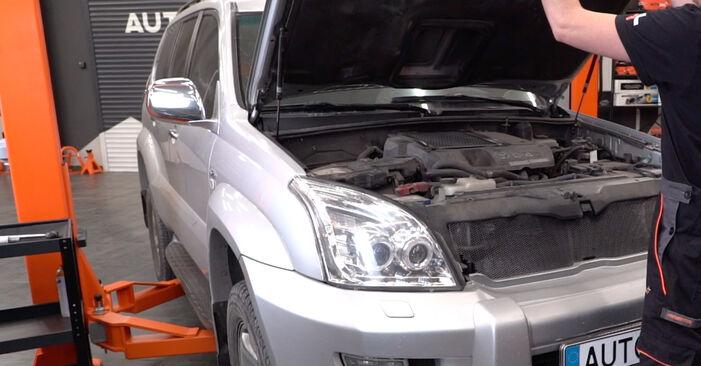 Hogyan Toyota Prado J120 2002 Lengőkar cseréje - ingyenes PDF és videó-útmutatók