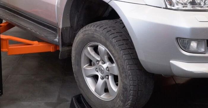 Mennyi ideig tart a csere: Lengőkar Toyota Prado J120 2010 - tájékoztató PDF útmutató