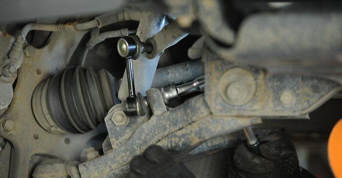 Wie kompliziert ist es, selbst zu reparieren: Koppelstange am KIA Sorento jc 2.4 2008 ersetzen – Laden Sie sich illustrierte Wegleitungen herunter