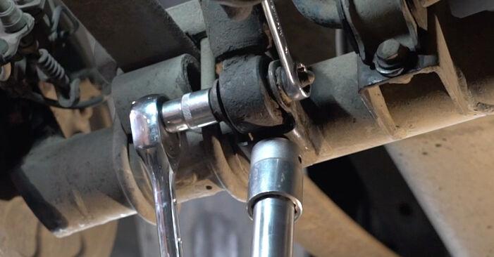 VW CADDY 2011 Tlmič pruzenia návod na výmenu, krok po kroku