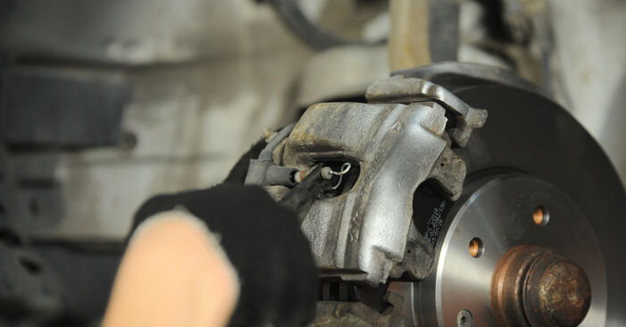 Replacing Brake Pads on Mercedes W210 1996 E 300 3.0 Turbo Diesel (210.025) by yourself