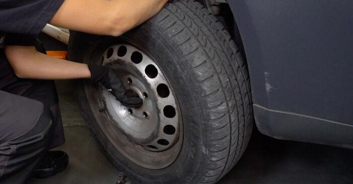 Wie VW CADDY 1.6 2008 Bremsscheiben ausbauen - Einfach zu verstehende Anleitungen online