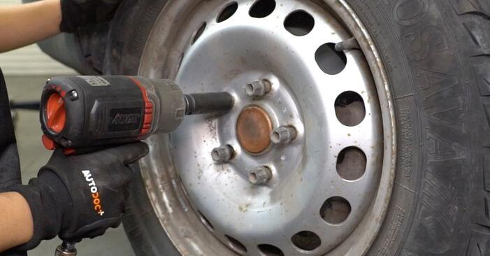 VW Caddy 3 Van 1.6 TDI 2006 Pastiglie Freno sostituzione: manuali dell'autofficina