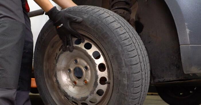 Wie VW CADDY 1.6 2008 Bremsbeläge ausbauen - Einfach zu verstehende Anleitungen online