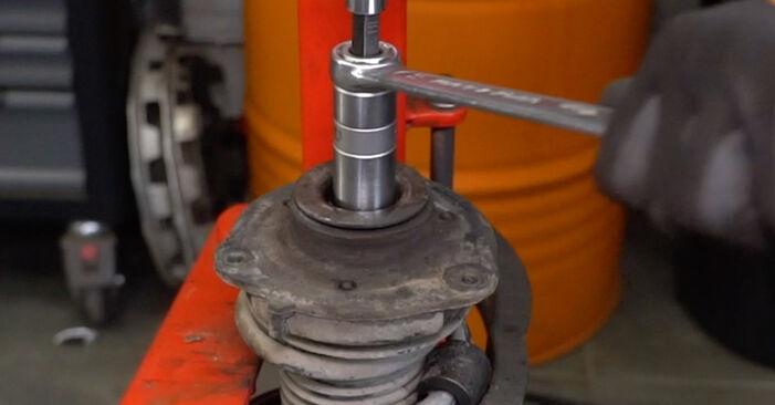 Kaip nuimti VW CADDY 1.6 2008 Spyruoklės - nesudėtingos internetinės instrukcijos