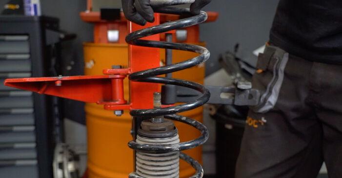 VW CADDY 2011 Пружинно окачване стъпка по стъпка наръчник за смяна