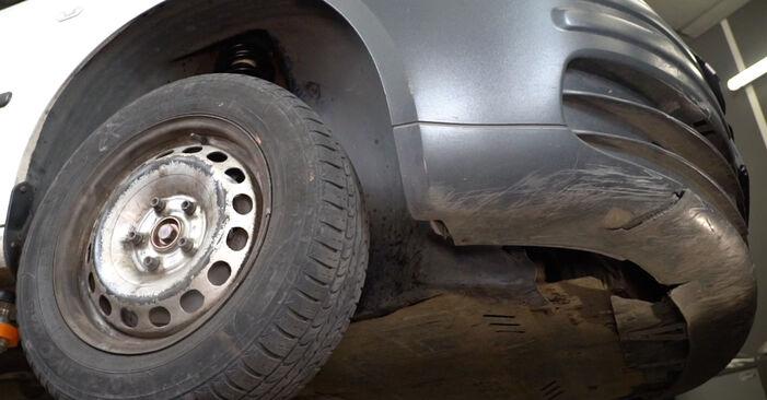 Колко време отнема смяната: Пружинно окачване на VW Caddy 3 Ван 2012 - информативен PDF наръчник