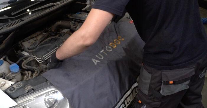 Recommandations étape par étape pour remplacer soi-même VW Caddy 3 Van 2005 1.6 Coupelle d'Amortisseur