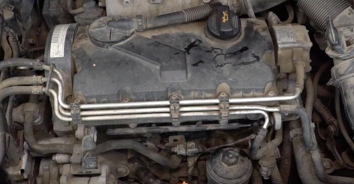 Substituição de VW Caddy 3 Van 1.6 TDI 2006 Vela de Incandescência: manuais gratuitos de oficina