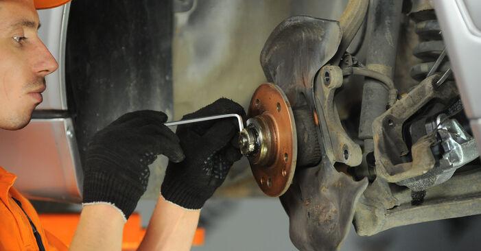 Ersetzen Sie Radlager am Mercedes W210 1996 E 300 3.0 Turbo Diesel (210.025) selbst