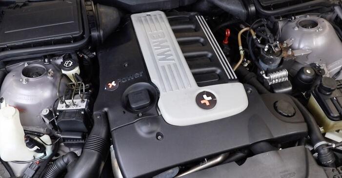 BMW 5 SERIES 520i 2.2 2000 Hosszbordás szíj eltávolítás - online könnyen követhető utasítások