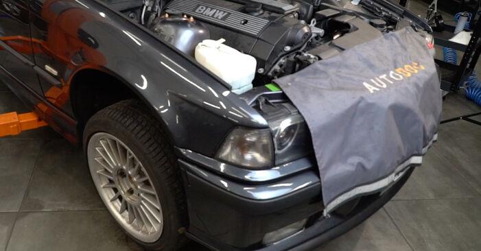 Wie man BMW 3 SERIES 318i 1.8 1998 Ölfilter wechselt - Einfach nachzuvollziehende Tutorials online