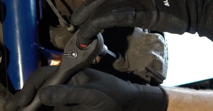 Wie schwer ist es, selbst zu reparieren: Bremsscheiben BMW E36 323i 2.5 2000 Tausch - Downloaden Sie sich illustrierte Anleitungen