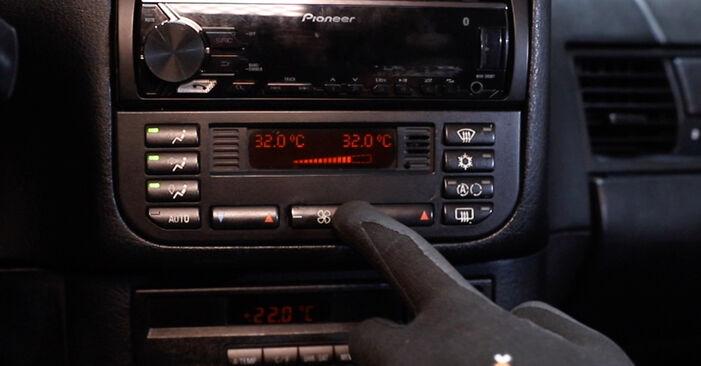 Innenraumfilter Ihres BMW E36 325td 2.5 1998 selbst Wechsel - Gratis Tutorial