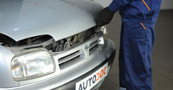 Austauschen Anleitung Ölfilter am Nissan Micra k11 2002 1.0 i 16V selbst