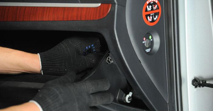 Wymiana Hyundai Santa Fe cm 2.2 CRDi GLS 4x4 2007 Filtr powietrza kabinowy: darmowe instrukcje warsztatowe