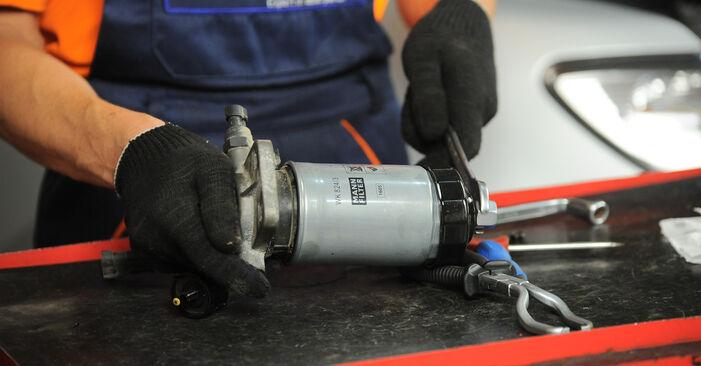 Austauschen Anleitung Kraftstofffilter am Hyundai Santa Fe cm 2007 2.2 CRDi 4x4 selbst