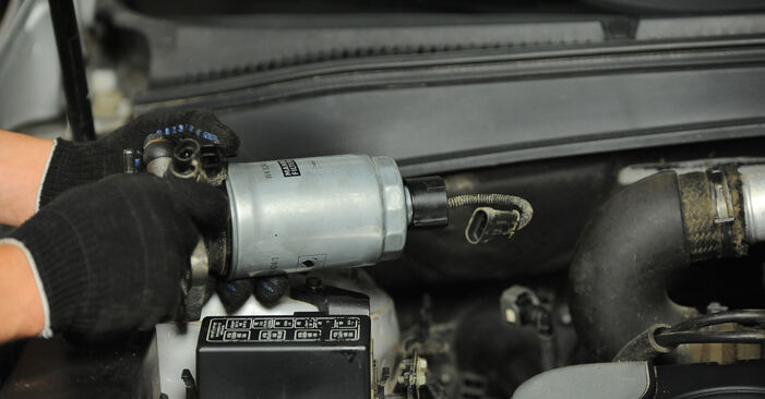 SANTA FÉ II (CM) 2.2 CRDi GLS 2008 2.2 CRDi GLS 4x4 Kraftstofffilter - Handbuch zum Wechsel und der Reparatur eigenständig