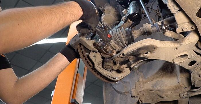 Austauschen Anleitung Bremsscheiben am Hyundai Santa Fe cm 2007 2.2 CRDi 4x4 selbst