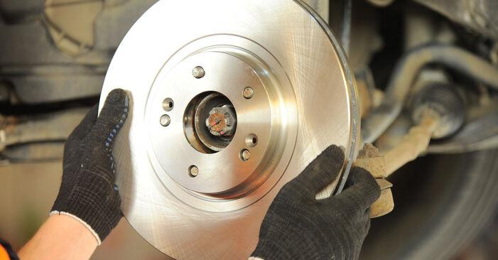 Jak vyměnit Brzdovy kotouc na Hyundai Santa Fe cm 2005 - bezplatné PDF a video návody