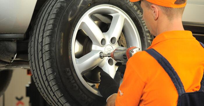 Podrobná doporučení pro svépomocnou výměnu Hyundai Santa Fe cm 2010 2.2 CRDi GLS Brzdovy kotouc