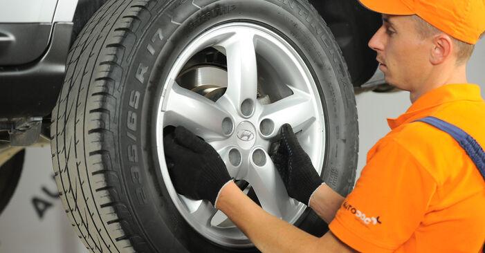 Hvordan skifte Bremseskiver på HYUNDAI SANTA FÉ II (CM) 2010: Last ned PDF- og videoveiledninger
