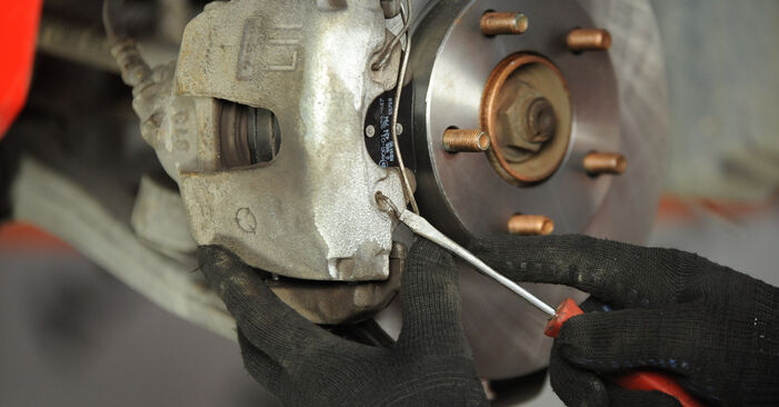How to replace Brake Pads on MAZDA 3 Saloon (BK) 2008: download PDF manuals and video instructions
