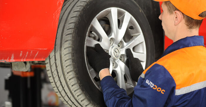 Changing of Brake Pads on Mazda 3 Saloon 2004 won't be an issue if you follow this illustrated step-by-step guide