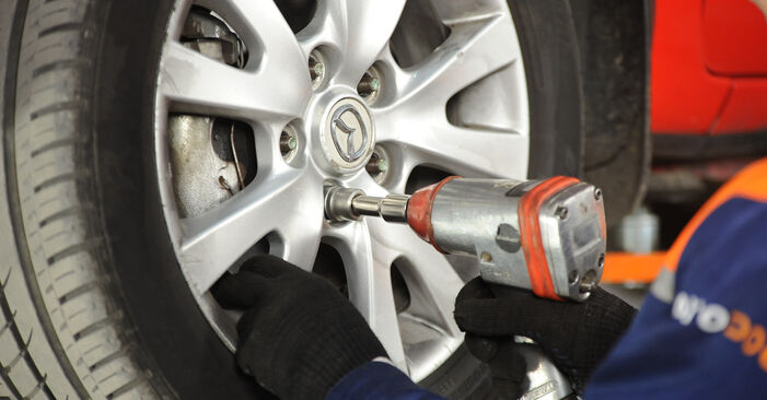 How to remove MAZDA 3 1.4 2007 Brake Pads - online easy-to-follow instructions