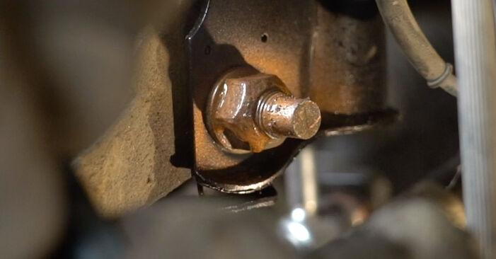 Mazda 3 Sedan 1.6 DI Turbo 2005 Veerpootlager remplaceren: kosteloze garagehandleidingen