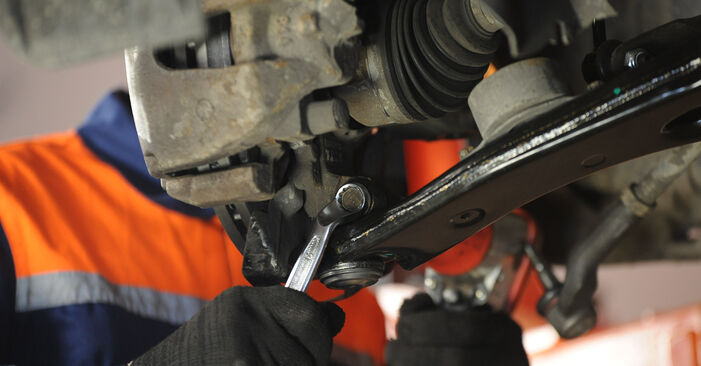 How to remove MAZDA 3 1.4 2007 Control Arm - online easy-to-follow instructions