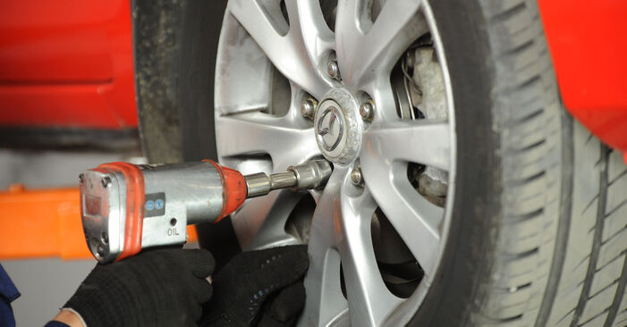 How to change Control Arm on MAZDA 3 Saloon (BK) 2008 - tips and tricks
