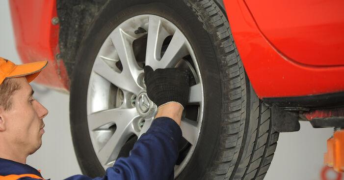 Jak trudno jest to zrobić samemu: wymień Zawieszenie w Mazda 3 Sedan 2.3 2009 - pobierz ilustrowany przewodnik