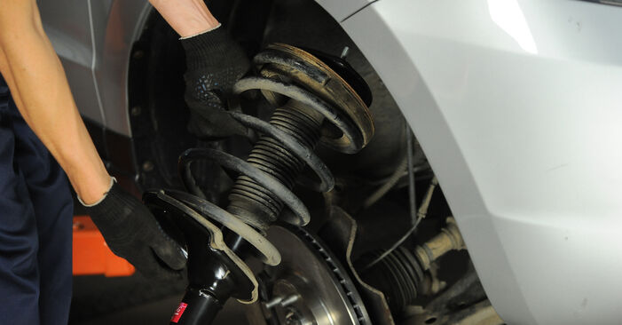 How to remove HYUNDAI SANTA FE 2.2 CRDi GLS 2009 Shock Absorber - online easy-to-follow instructions