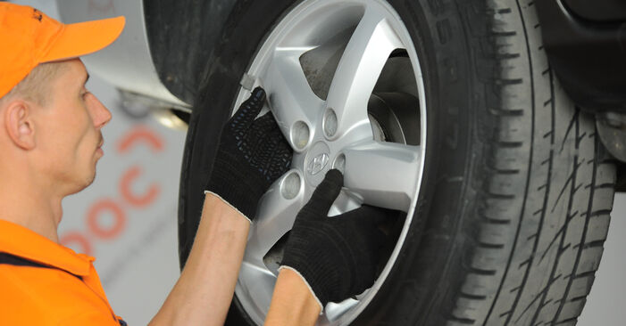 How to remove HYUNDAI SANTA FE 2.2 CRDi GLS 2009 Wheel Bearing - online easy-to-follow instructions