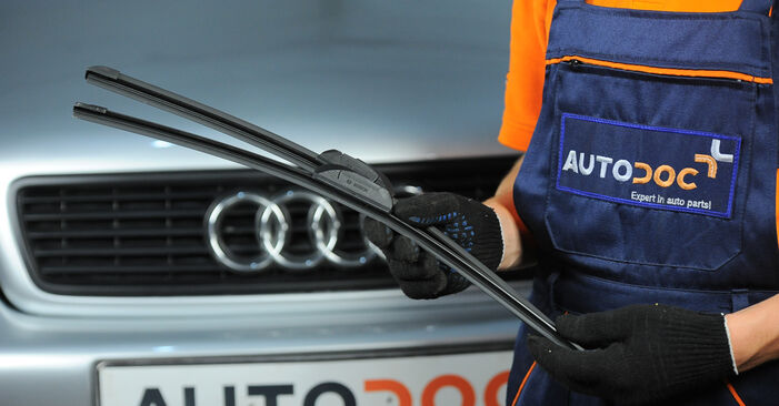 How to change Wiper Blades on Audi A4 B5 Avant 1994 - free PDF and video manuals
