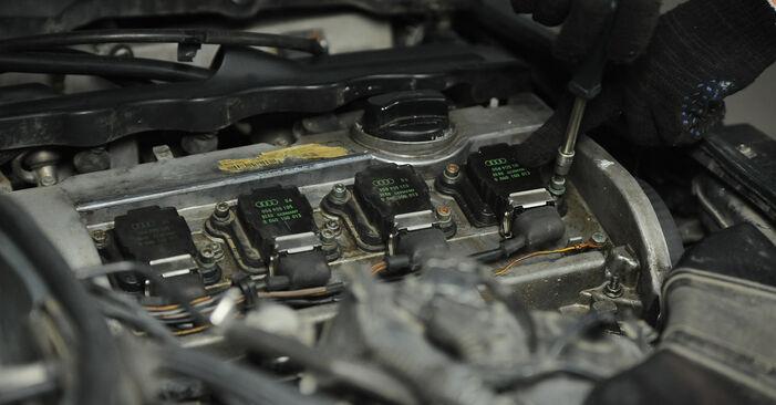 Schritt-für-Schritt-Anleitung zum selbstständigen Wechsel von Audi A4 B5 Avant 1999 1.8 T quattro Zündkerzen