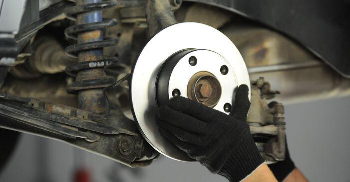 Schrittweise Anleitung zum eigenhändigen Ersatz von Audi A4 B5 Avant 1999 1.8 T quattro Bremsscheiben
