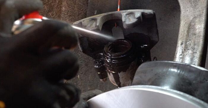 Wie Bremsscheiben AUDI A4 Avant (8D5, B5) 1.8 1995 austauschen - Schrittweise Handbücher und Videoanleitungen