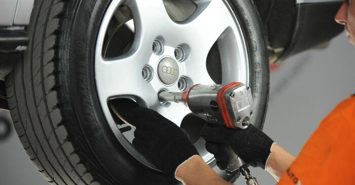 Jak zdjąć AUDI A4 1.8 T quattro 1998 Tarcza hamulcowa - łatwe w użyciu instrukcje online