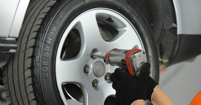 Jak zdjąć AUDI A4 1.8 T quattro 1998 Klocki Hamulcowe - łatwe w użyciu instrukcje online