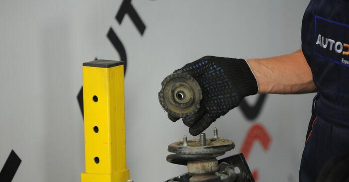 Cómo reemplazar Amortiguadores en un AUDI A4 Avant (8D5, B5) 1999: descargue manuales en PDF e instrucciones en video