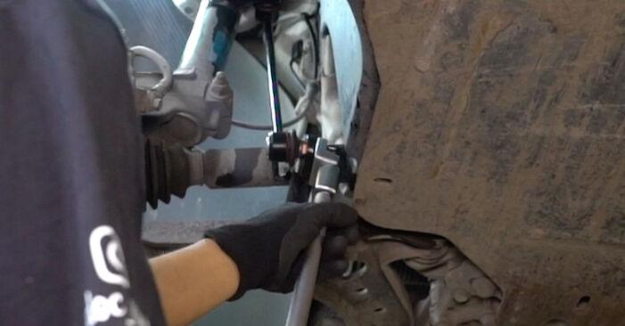 Caddy III Kastenwagen (2KA, 2KH, 2CA, 2CH) 1.6 2015 1.6 TDI Koppelstange - Handbuch zum Wechsel und der Reparatur eigenständig