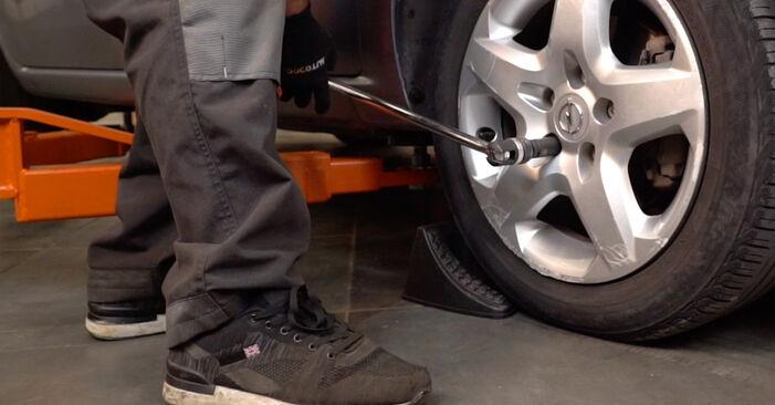 Bremsbeläge Opel Astra H Caravan 1.9 CDTI (L35) 2006 wechseln: Kostenlose Reparaturhandbücher