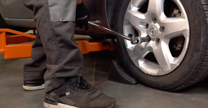 How to replace OPEL Astra H Caravan (A04) 1.6 (L35) 2005 Control Arm - step-by-step manuals and video guides