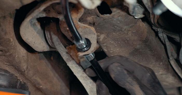 Ford Mondeo mk3 Sedaan 2.0 16V 2002 Käsijarru Vaijeri vahetamine: tasuta töökoja juhendid